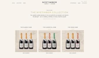 eCommerce website: Nyetimber