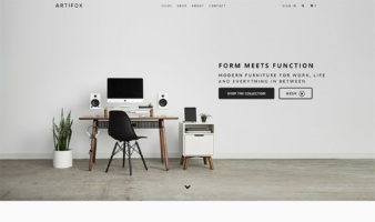 eCommerce website: ARTIFOX