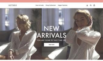 eCommerce website: ASTARS