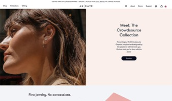 eCommerce website: AUrate New York