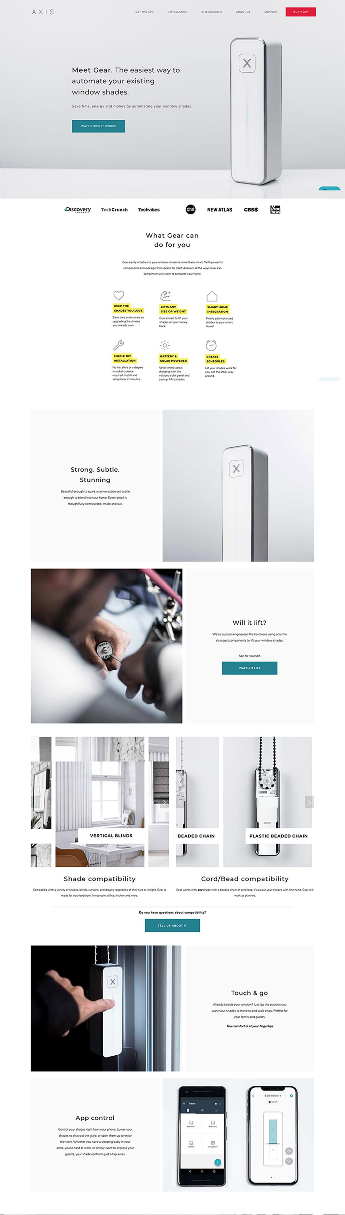 eCommerce website: AXIS