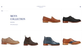 eCommerce website: Adelante Shoe Co.
