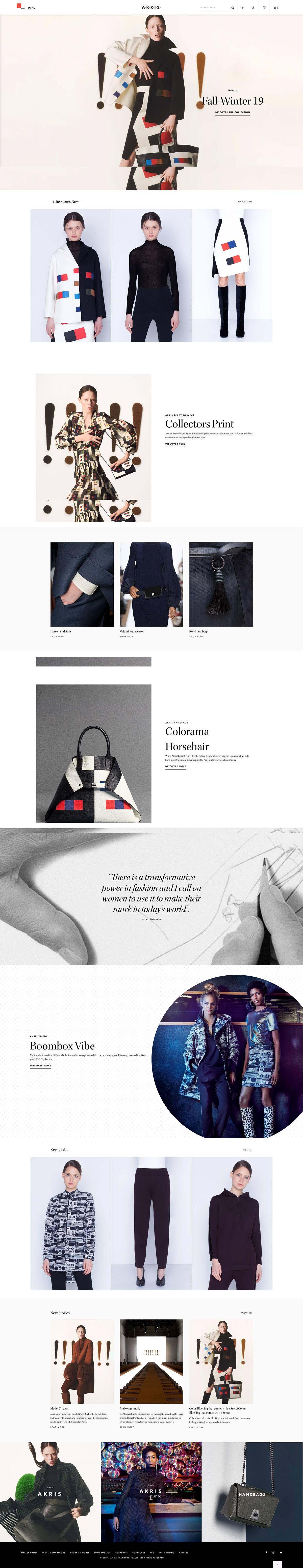 eCommerce website: Akris