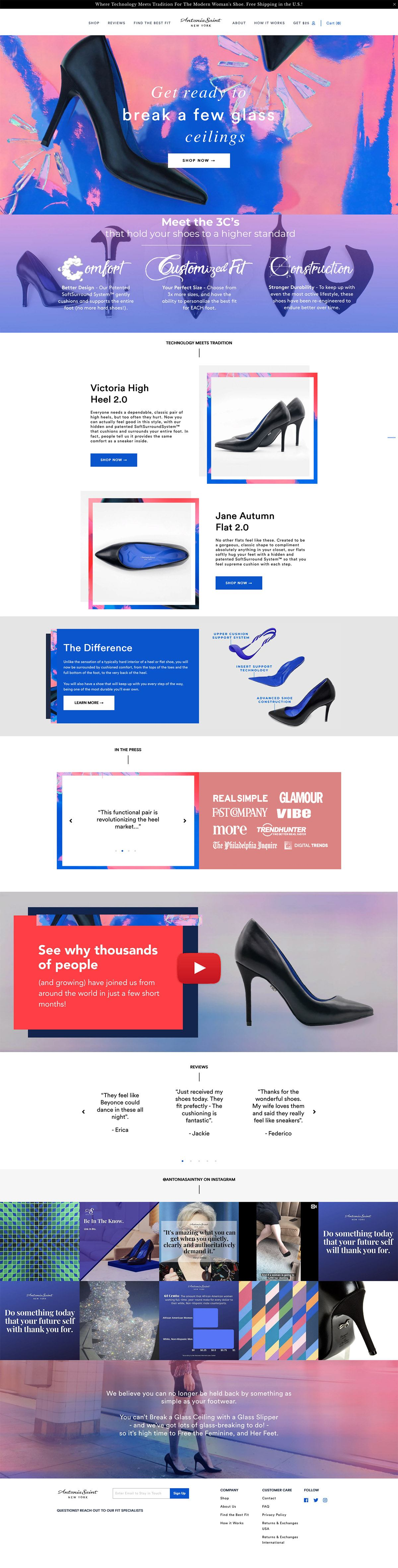 eCommerce website: Antonia Saint