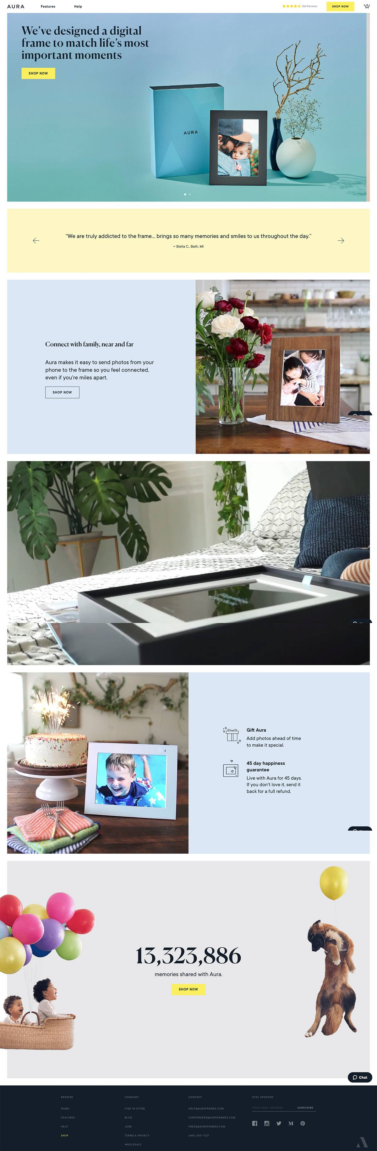 eCommerce website: Aura