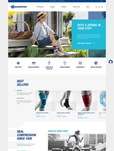 eCommerce website: Bauerfeind