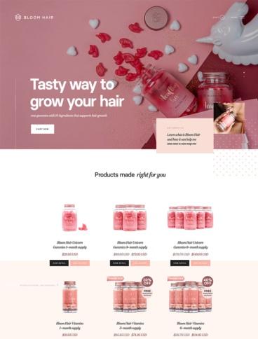 eCommerce website: Bloom Hair