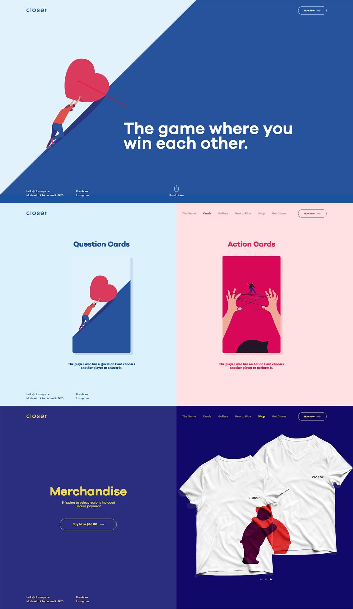 eCommerce website: Closer