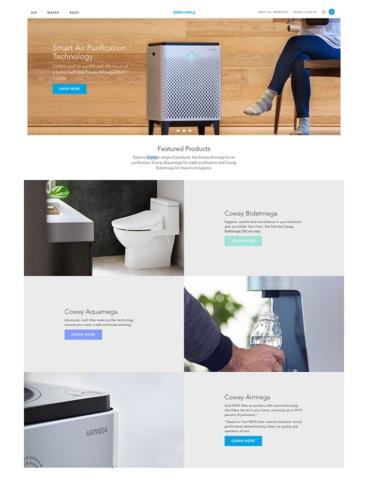 eCommerce website: Coway