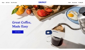 eCommerce website: Dripkit Coffee