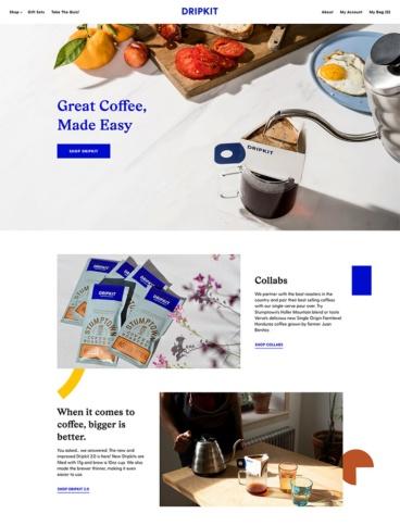 eCommerce website: Dripkit Coffee