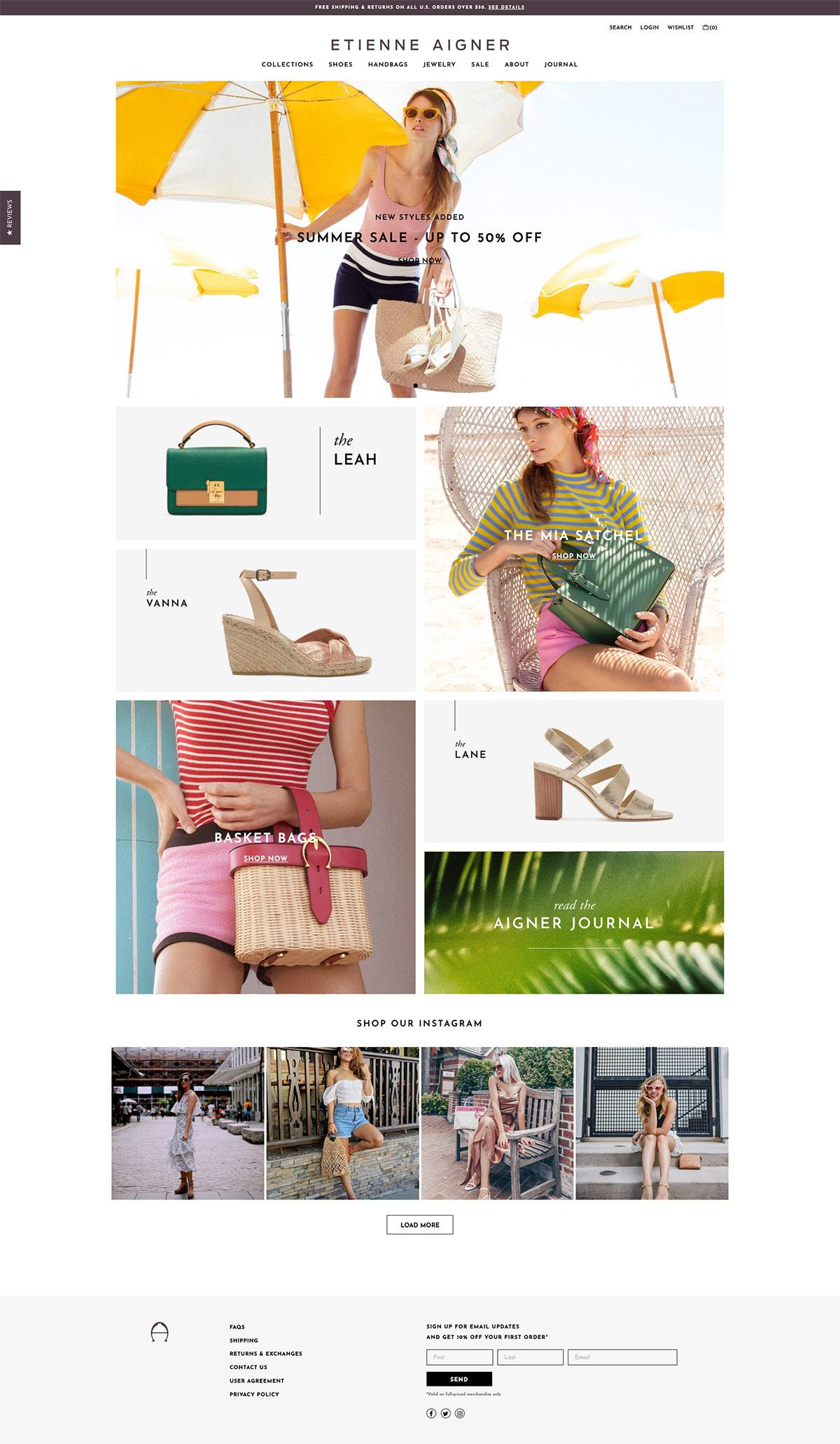 eCommerce website: Etienne Aigner