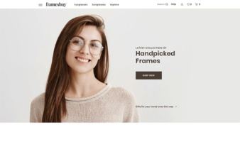 eCommerce website: Frames Buy