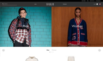eCommerce website: Giulio Fashion
