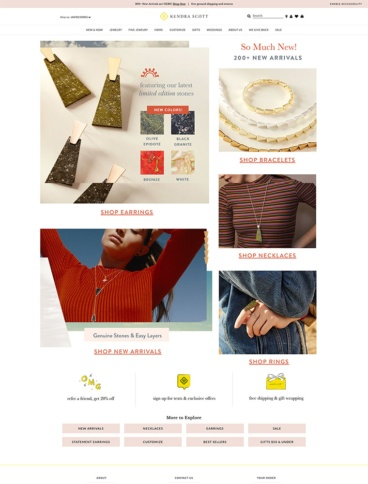 eCommerce website: Kendra Scott