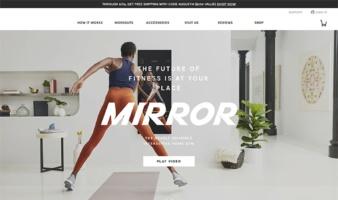 eCommerce website: MIRROR