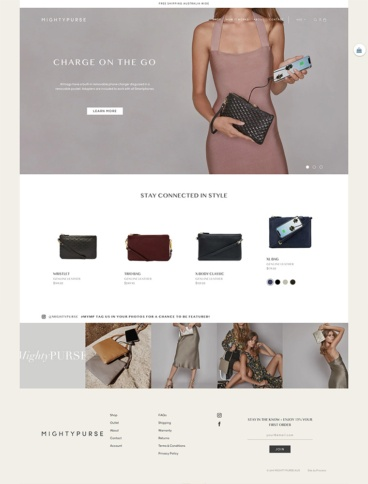 eCommerce website: Mighty Purse
