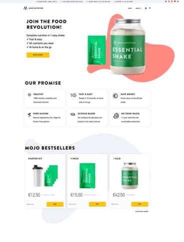 eCommerce website: MOJO Nutrition