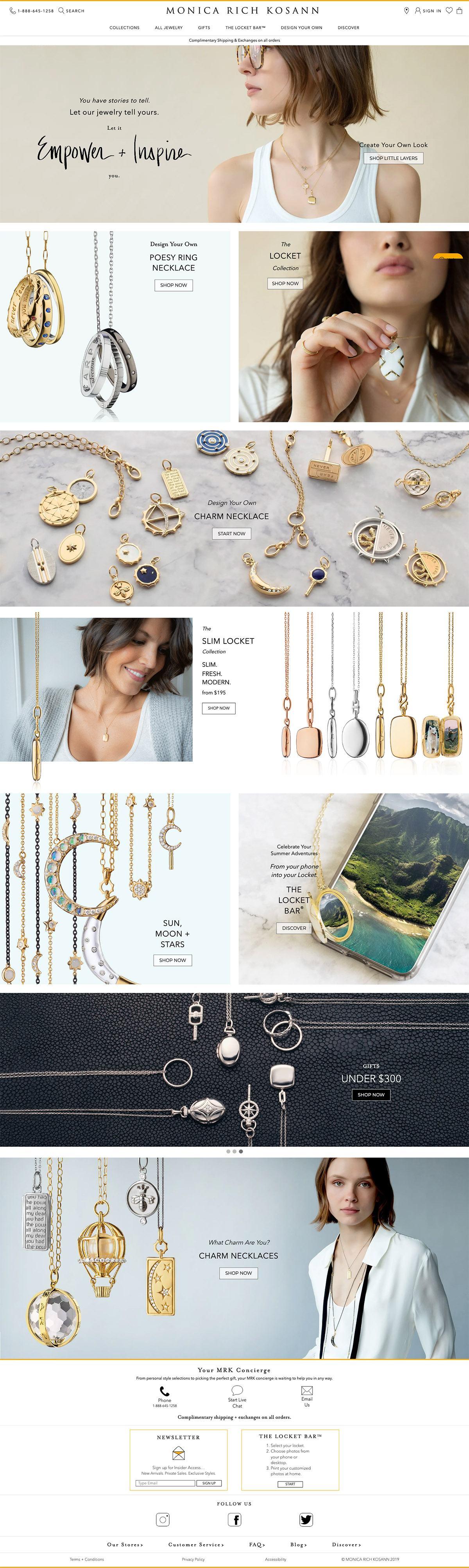 eCommerce website: Monica Rich Kosann