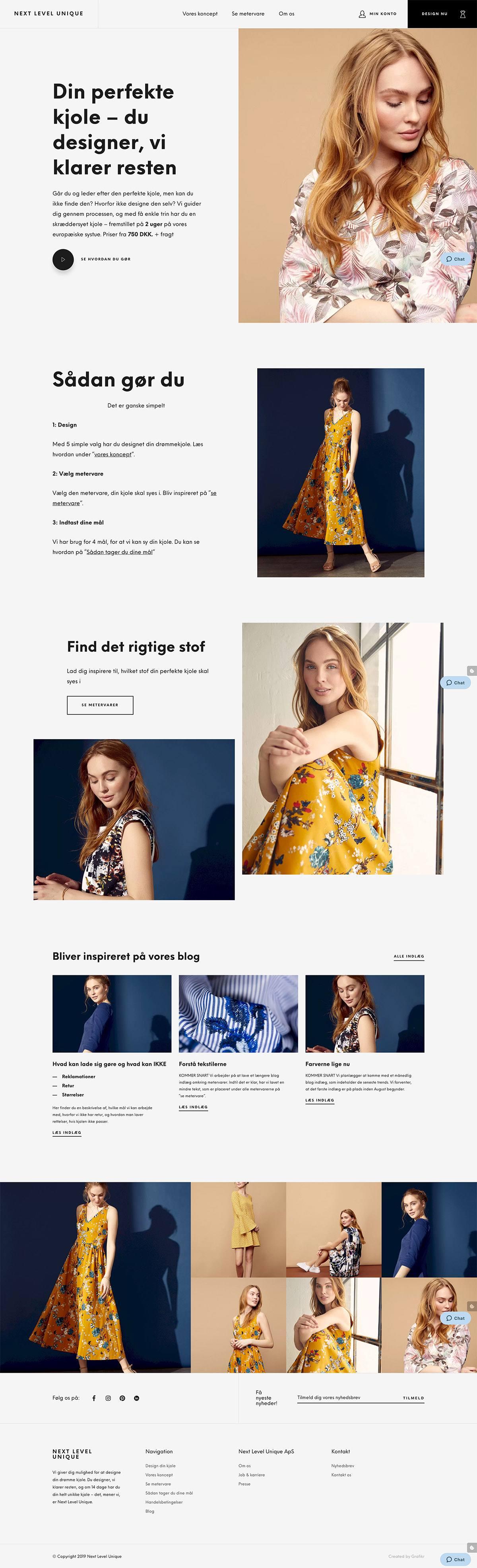 eCommerce website: Next Level Unique