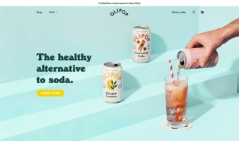 eCommerce website: Olipop