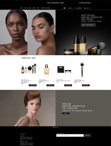 eCommerce website: Pat McGrath
