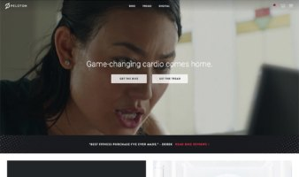 eCommerce website: Peloton