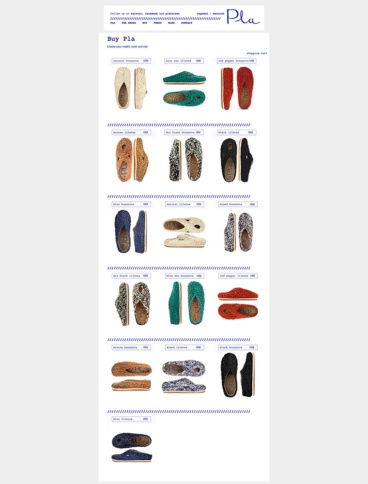 eCommerce website: Pla