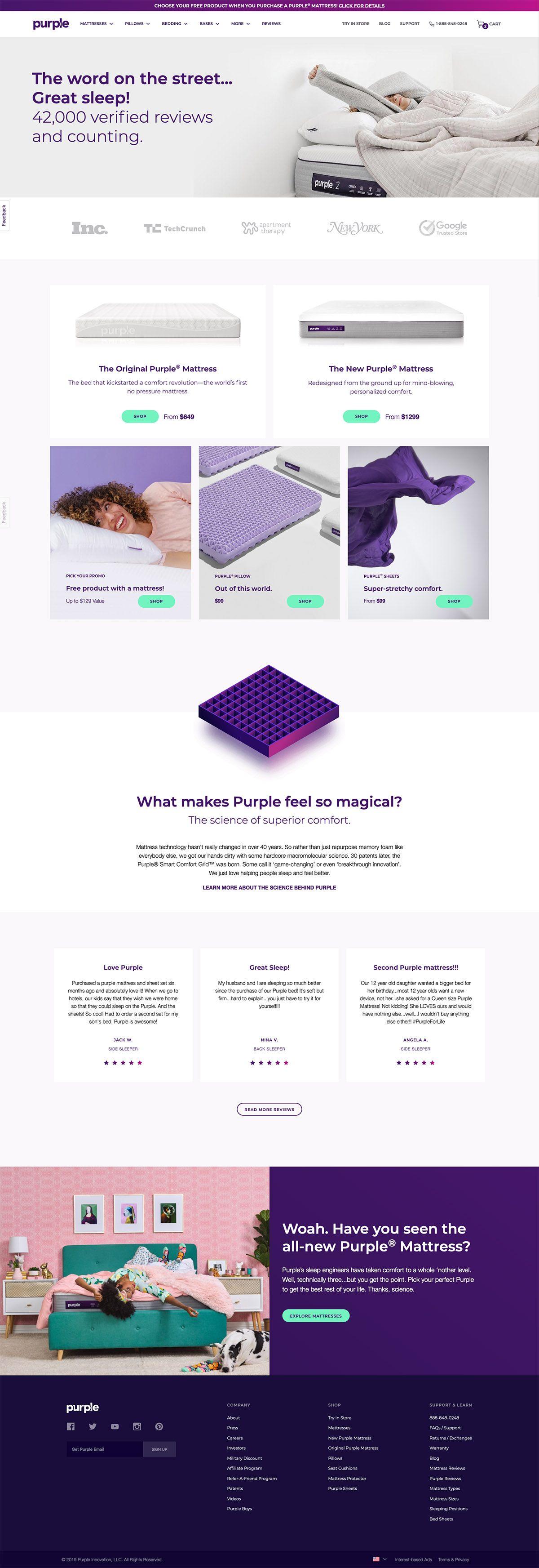 eCommerce website: Purple