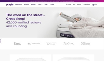 eCommerce website: Purple