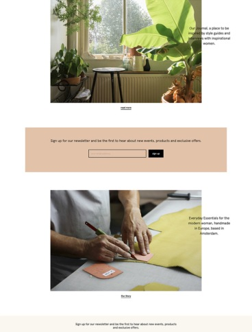eCommerce website: Studio Cosima