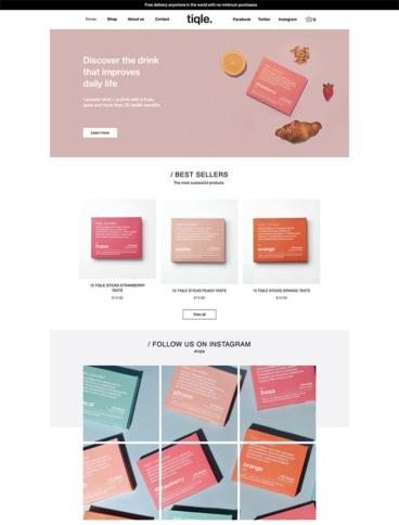 eCommerce website: Tiqle