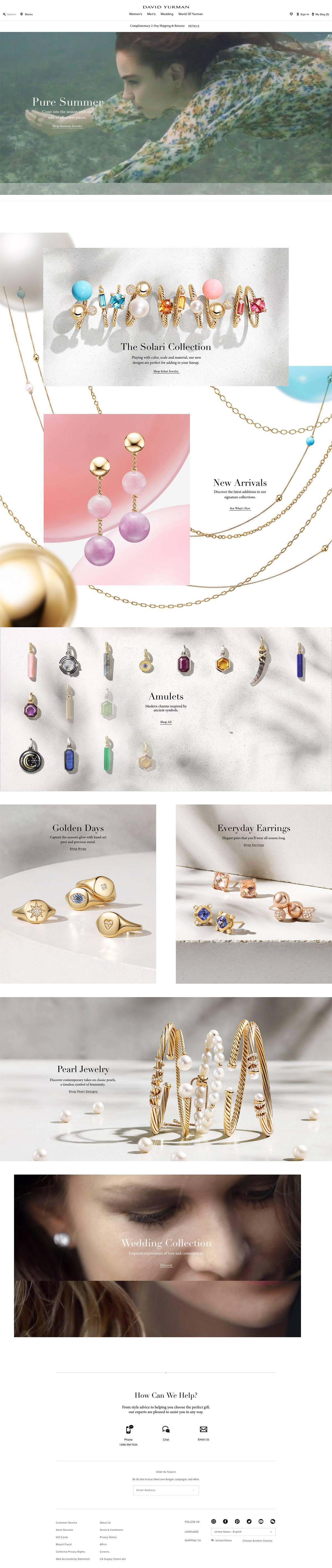 eCommerce website: David Yurman