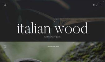 eCommerce website: Italian Wood