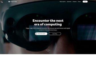 eCommerce website: Magic Leap