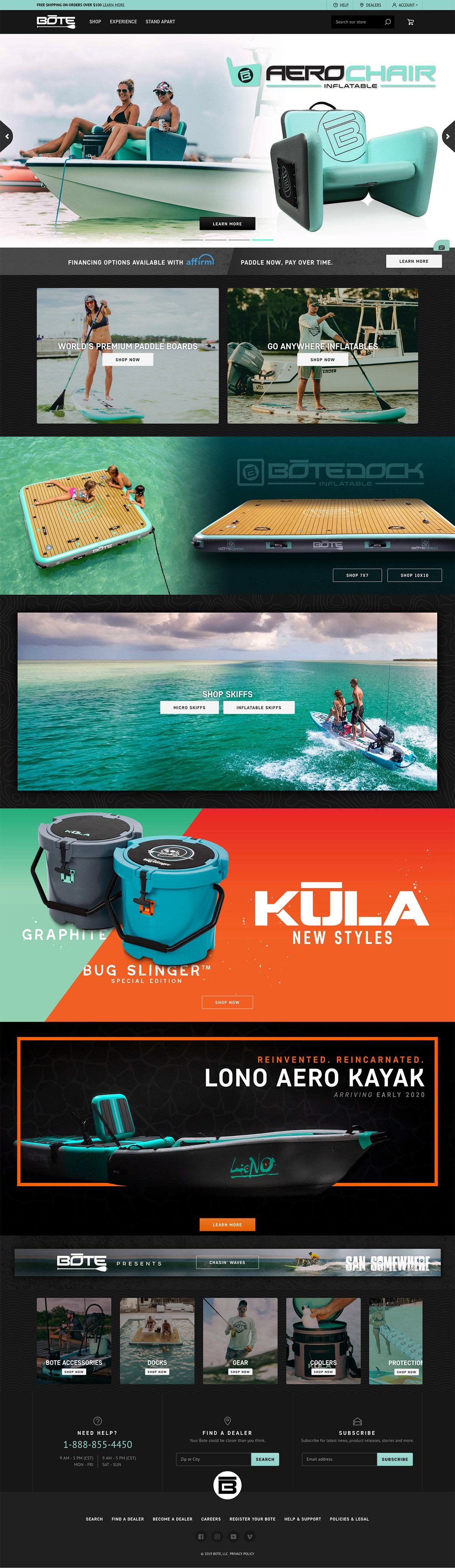 eCommerce website: BOTE