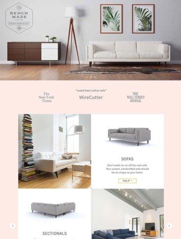 eCommerce website: BenchMade Modern