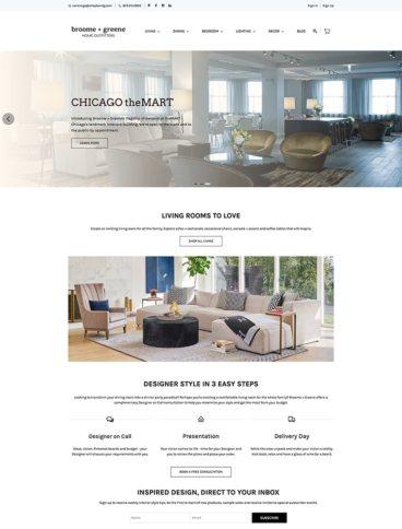 eCommerce website: Broome & Greene