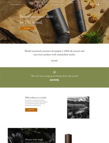 eCommerce website: Caldera + Lab