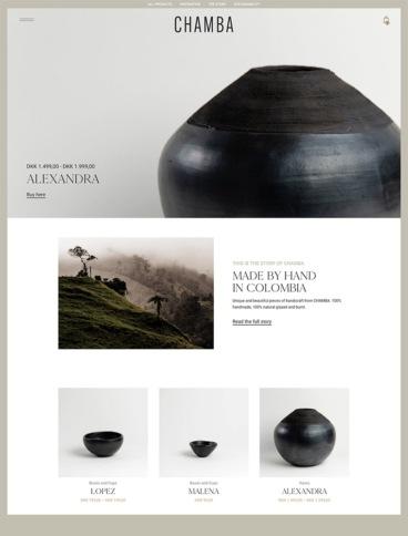 eCommerce website: Chamba design