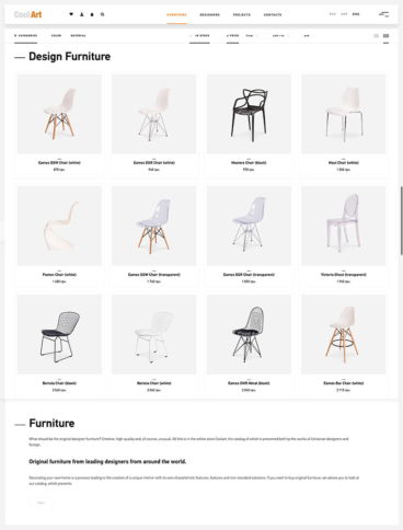 eCommerce website: CoolArt