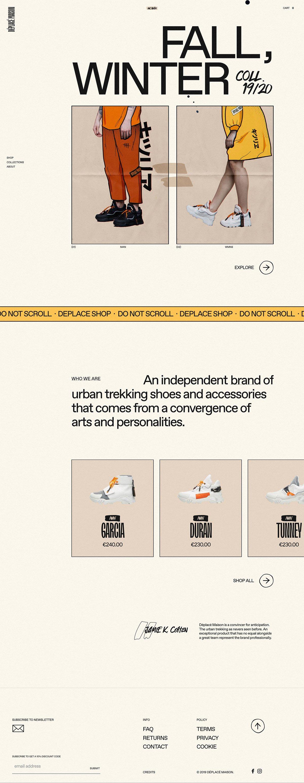eCommerce website: Déplacé Maison