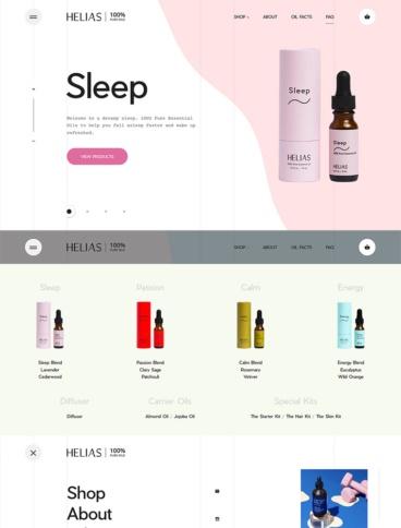 eCommerce website: Helias Oils