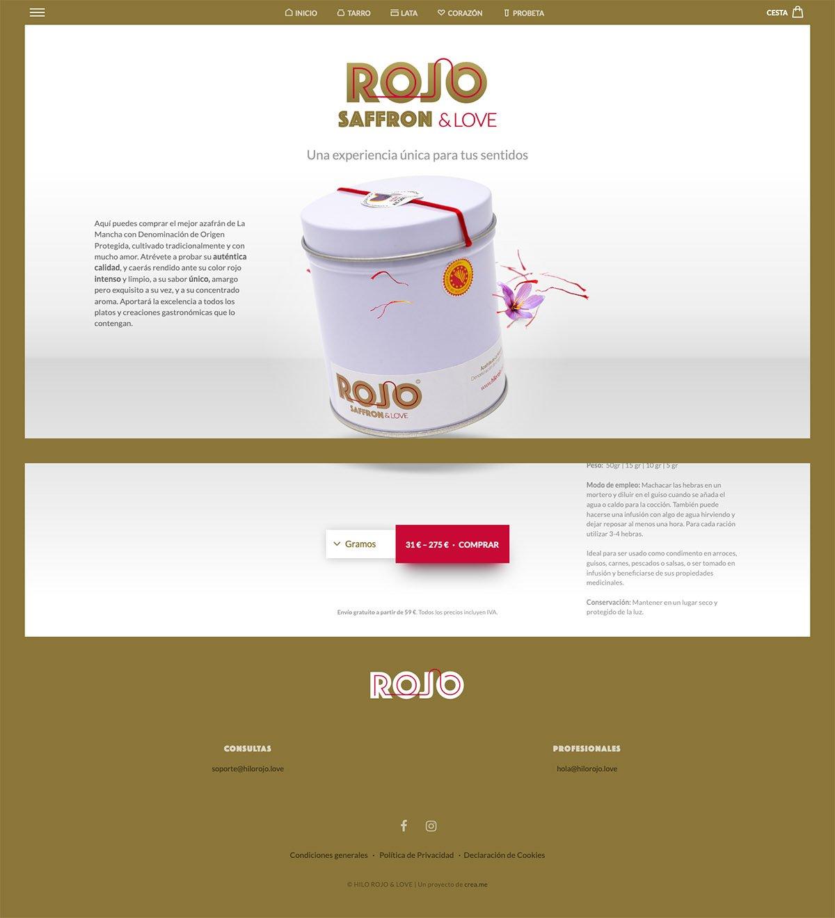 eCommerce website: Hilo Rojo & Love