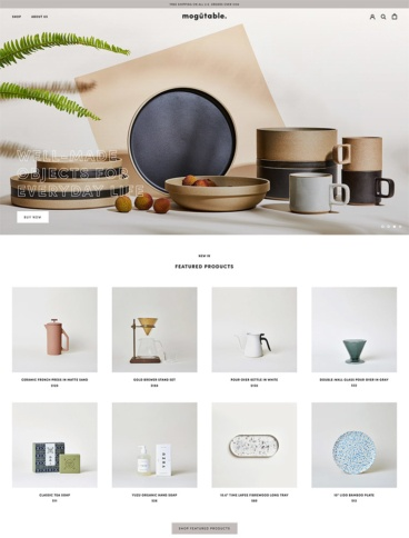 eCommerce website: Mogutable