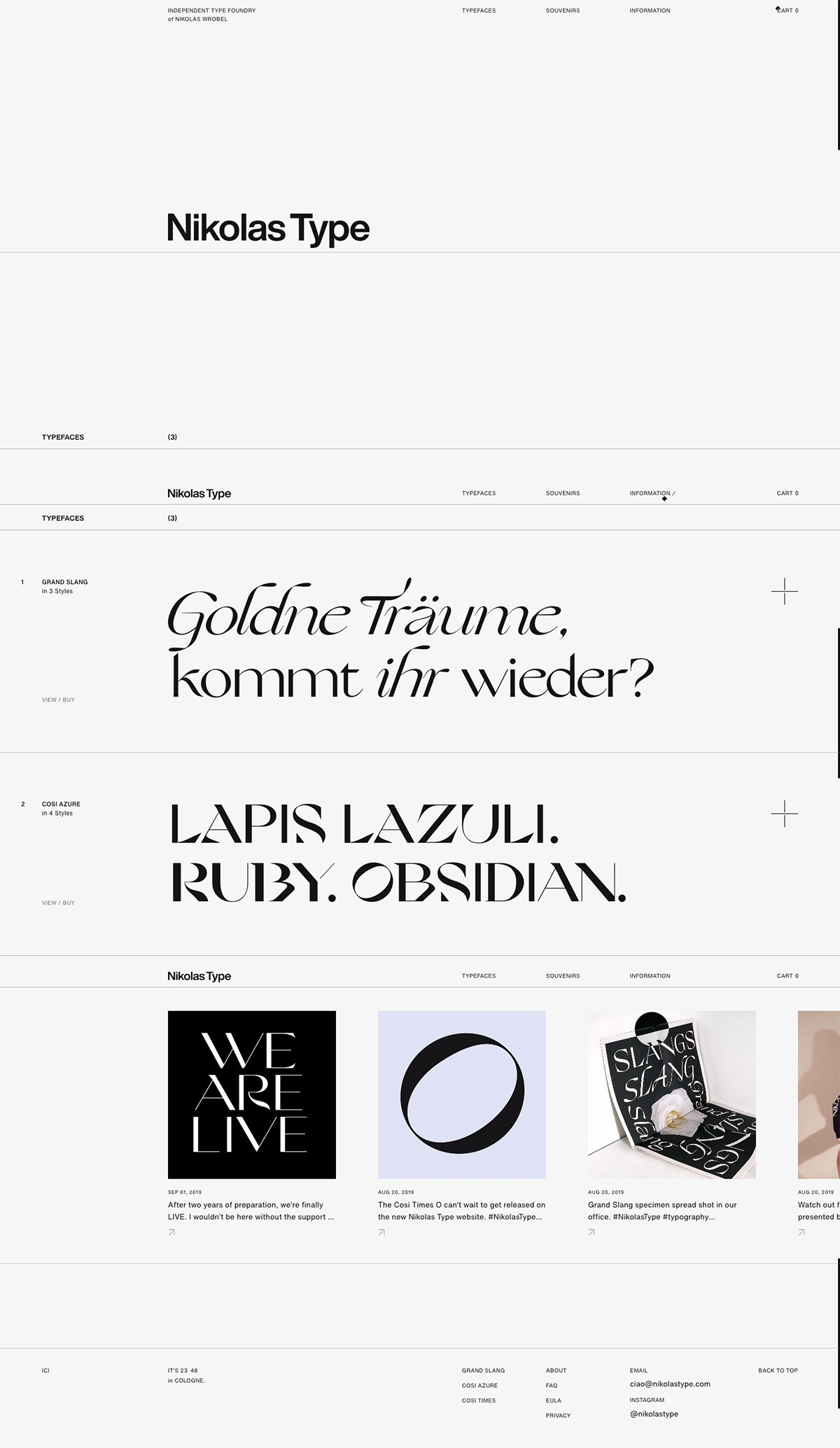 eCommerce website: Nikolas Type