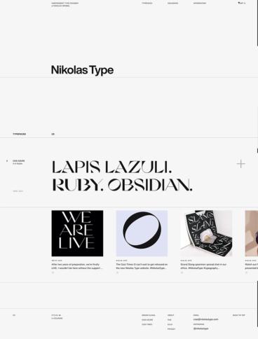 eCommerce website: Nikolas Type