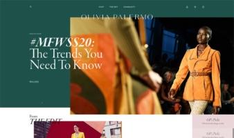 eCommerce website: Olivia Palermo