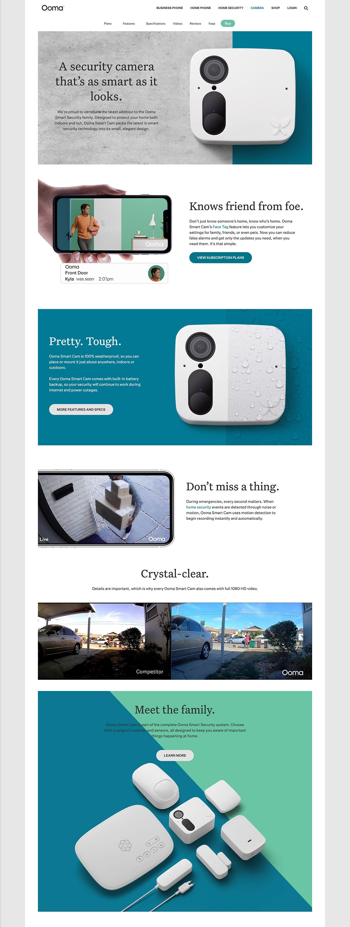eCommerce website: Ooma, Inc.
