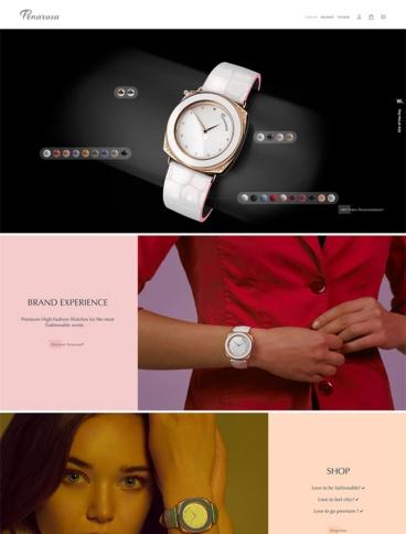 eCommerce website: Penarosa Watches